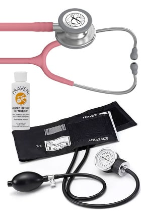 3M Littmann Classic III™, Prestige Medical Basics Sphygmomanometer, and Praveni Cleaning Kit