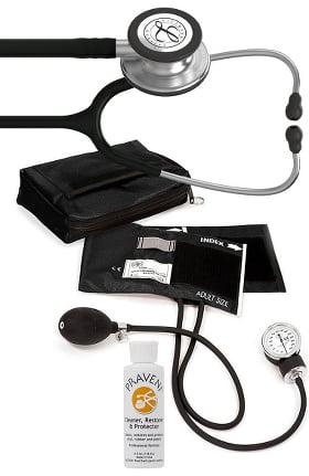 3M Littmann Classic III™ Prestige Medical Adult Sphygmomanometer with Case, and Praveni Cleaning Kit