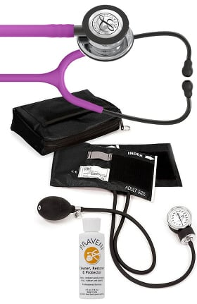 3M Littmann Classic III™ Stethoscope, Prestige Sphygmomanometer with Case & Praveni Kit