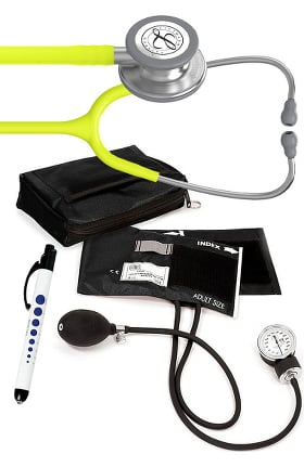 3M Littmann Classic III Stethoscope, Prestige Sphygmomanometer with Case &  Penlight Kit