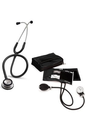 3M Littmann Classic II SE Stethoscope with Prestige Medical Adult Sphygmomanometer and Case Kit
