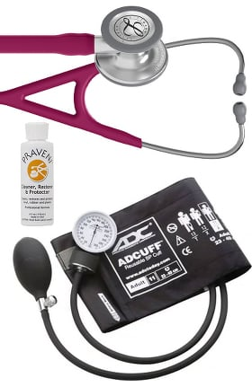3M Littmann Cardiology IV™ Diagnostic Stethoscope with ADC® Prosphyg 760 Aneroid Sphygmomanometer & Praveni Cleaning Kit
