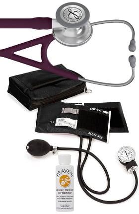 3M Littmann Cardiology IV Stethoscope, Prestige Aneroid Sphygmomanometer, Case & Praveni Kit