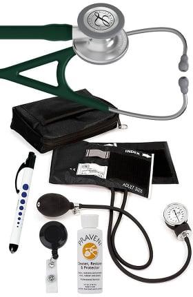 3M Littmann Cardiology IV™ Stethoscope, Prestige Aneroid Sphygmomanometer, Case, Penlight, Retracteze ID Holder & Praveni Kit