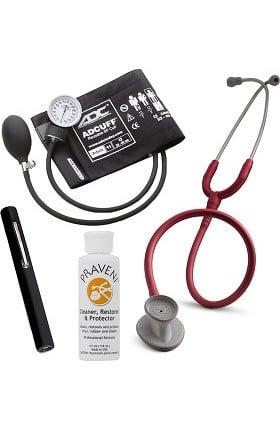 3M Littmann Lightweight II S.E. Stethoscope, ADC Prosphyg 760 Aneroid Sphygmomanometer, Adlite Plus Penlight & Praveni Kit