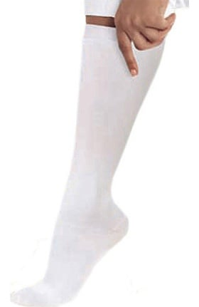 Landau Women's White 10-15 mmHg Compression Knee High Socks
