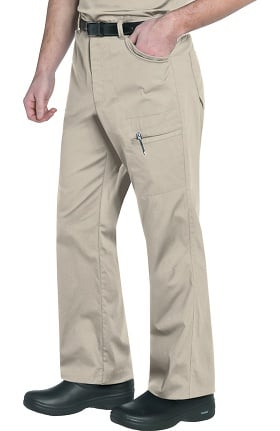 Clearance Landau Men's Cargo Ripstop Scrub Pant with Knee Darts