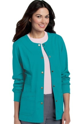 Clearance Pre-Washed by Landau Women's Snap Front Solid Scrub Jacket