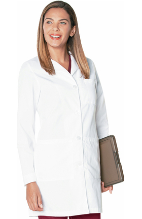 "Landau Women's 3-Pocket Poplin 38"" Lab Coat"