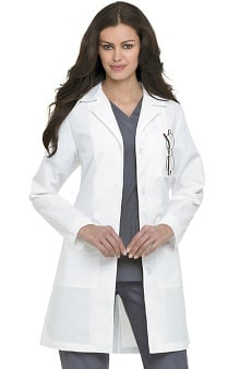 "Landau Women's Four Button 38"" Lab Coat"