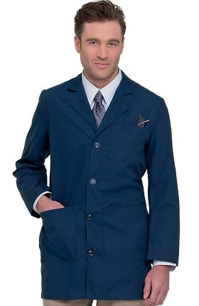 "Landau Men's Tailored 35"" Lab Coat"