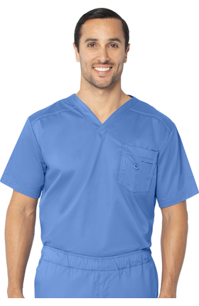 Stretch Men's by Landau V-Neck Solid Scrub Top