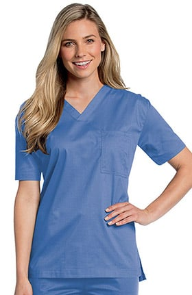 All Day by Landau Unisex V-Neck Solid Scrub Top