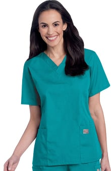ScrubZone by Landau Women's V-Neck Solid Scrub Top