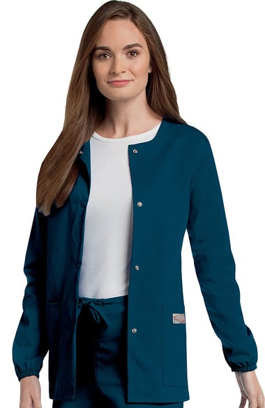 ScrubZone by Landau Women's Warm Up Solid Scrub Jacket ...