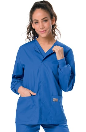 ScrubZone by Landau Unisex Snap Closure Solid Scrub Jacket