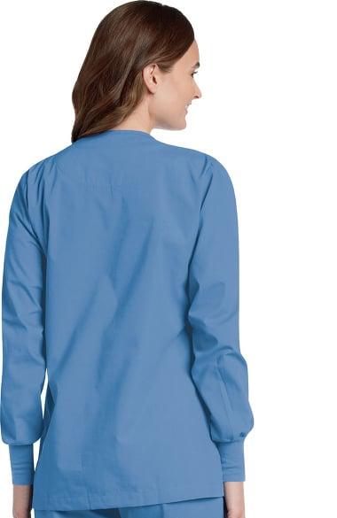 Women's V Neck Cardigan Style Warmup Solid Scrub Jacket