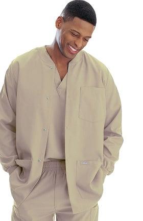 Clearance Landau Men's Warm-Up Solid Scrub Jacket