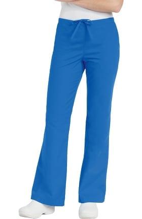 Landau Women's Natural Fit Flare Leg Scrub Pants