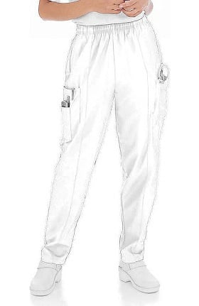 Clearance Landau Women's Classic Fit Cargo Elastic Waist Scrub Pants