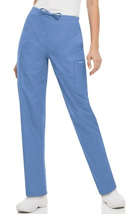 Clearance Landau Women's Classic Fit Cargo Drawstring Scrub Pants