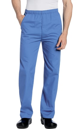 Landau Men's Elastic with Zipper Fly Scrub Pants