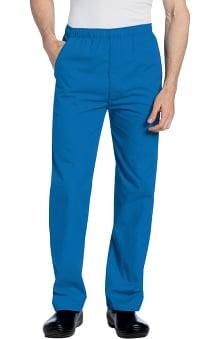 Landau Men's Elastic with Zipper Fly Scrub Pants
