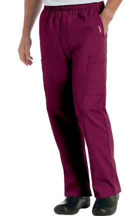 Landau Men's Cargo Pocket with Zipper Fly Scrub Pants