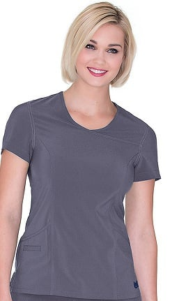 Urbane Performance Women's Banded Surplice Solid Scrub Top
