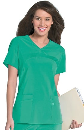 Clearance Urbane Performance Women's Rib Front Bodice Yoke Scrub Top