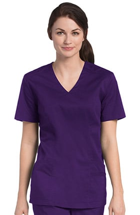 Urbane UFlex Women's V-Neck Solid Scrub Top