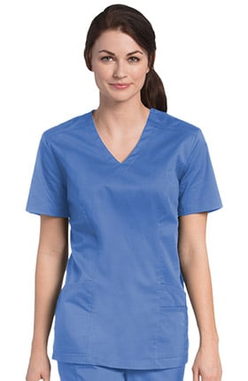 Clearance Urbane UFlex Women's V-Neck Solid Scrub Top