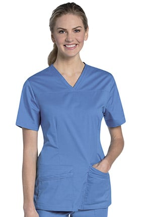 Urbane UFlex Women's Mock Wrap Solid Scrub Top