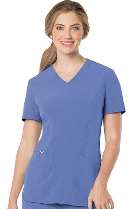 Urbane Performance Women's Activent V-Neck Tunic Solid Scrub Top