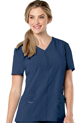 Urbane Performance Women's Activent Y-Neck Cool Panel Solid Scrub Top