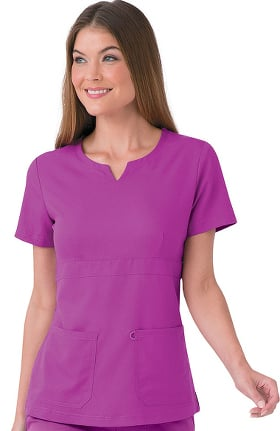 Clearance Urbane Ultimate Women's Leah Empire Notch Neck Solid Scrub Top