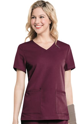 Urbane Ultimate Women's Chelsea Soft V-Neck Solid Scrub Top