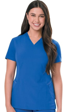 Urbane Ultimate Women's Contoured Solid Scrub Top