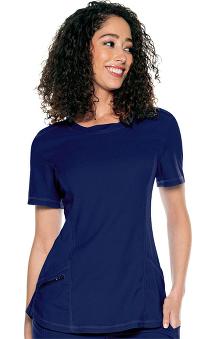 Urbane Align Women's Tunic Solid Scrub Top