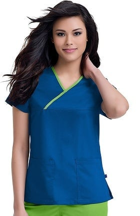Urbane Ultimate Women's Mandi Crossover Solid Scrub Top