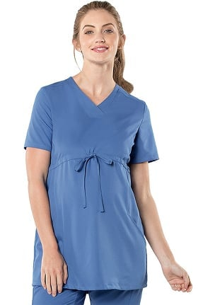 Urbane Ultimate Women's Maternity Adjustable Solid Scrub Top