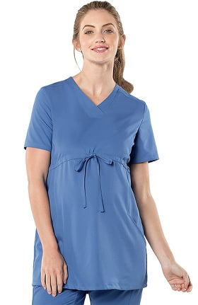 Clearance Urbane Ultimate Women's Maternity Adjustable Solid Scrub Top