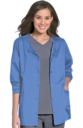 Urbane Ultimate Women's Button Front Scrub Jacket