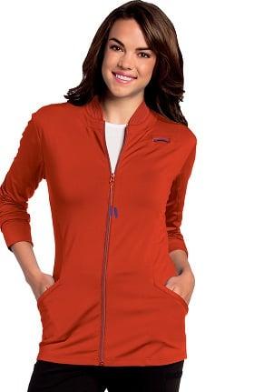 Urbane Ultimate Women's Kristen Zip Front Knit Solid Scrub Jacket