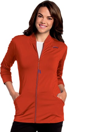 Clearance Urbane Ultimate Women's Kristen Zip Front Knit Solid Scrub Jacket
