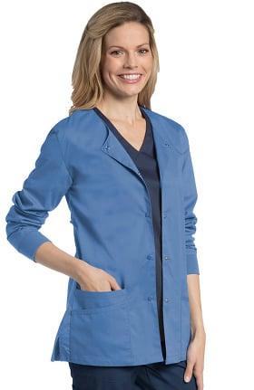 Urbane UFlex Women's Snap Front Warm-Up Solid Scrub Jacket