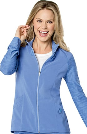 Urbane Performance Women's QuickCool Zip Front Solid Scrub Jacket