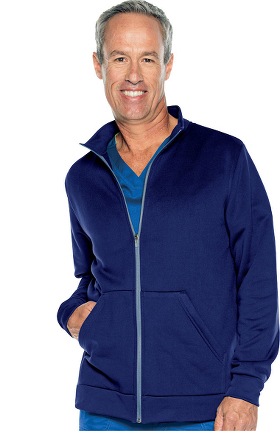 Urbane Performance Men's Fleece Solid Scrub Jacket