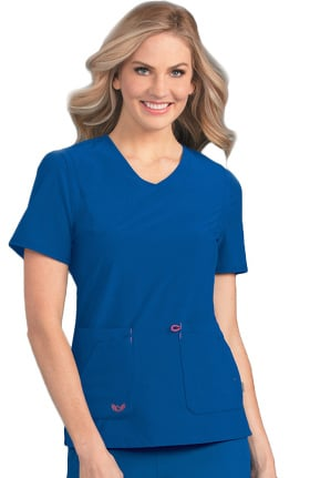 Smitten Women's Notorious V-Neck Solid Scrub Top