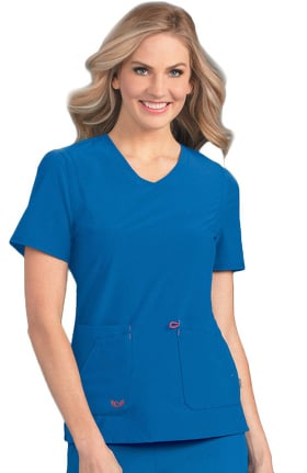 Clearance Smitten Women's Notorious V-Neck Solid Scrub Top